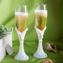 Beach Themed Toasting Glasses